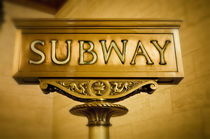 Subway Schild, Manhattan, New York, USA von travelstock44