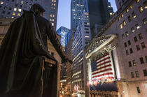 George Washington Statue, New York Stock Exchange Manhattan, Wall Street, New York  by travelstock44
