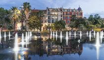 Promenade du Paillon , Wasserspiegel, Fontaenen, Nizza von travelstock44
