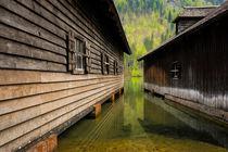 Bootshäuser am Königssee by Martin Wasilewski