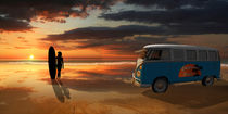 California surfing with camper bus by Monika Juengling