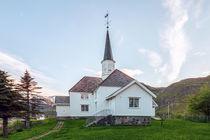 Moskenes Kirche auf den Lofoten  by Christoph  Ebeling