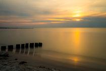 Vor Sonnenuntergang am Strand  von Christoph  Ebeling