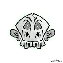 Big Eared Skull by Vincent J. Newman