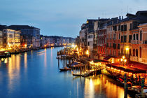 Blue hour in Venice. Italy by Tania Lerro