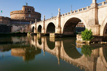 Castel Sant'Angelo in a summer day in Rome, Italy by Tania Lerro