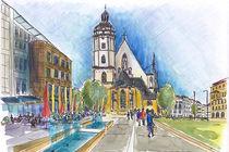Leipzig, Thomaskirche by Hartmut Buse