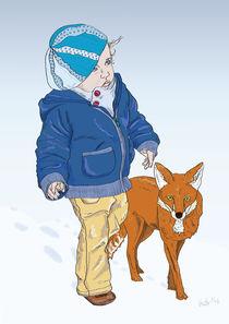 Mädchen mit Fuchs by Stefanie Beutler
