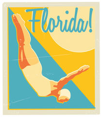 Florida Luggage Sticker von Chris Lyons