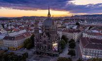 Wien Panorama Richtung Westen von Rolf Sauren
