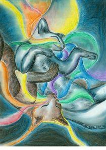 Spiegelwelten  (Zyklus: Traumfäden - Regenbogenkatzen) by Andrea Dejon