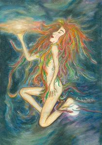 Sonnen-Mond-Frau  (Zyklus: Traumfäden) by Andrea Dejon