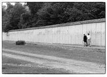Spaziergang an der Berliner Mauer, Kreuzberg 1991 von Dieter E. Hoppe