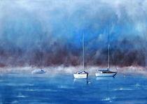 Boote im Morgenlicht von Christine Scharfen