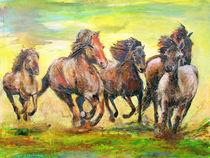 Wilde Pferde von Renée König