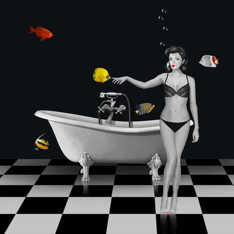 Fische-bad