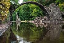 Rakotzbrücke im Herbst II von elbvue by elbvue