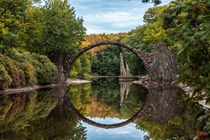 Rakotzbrücke im Herbst I von elbvue von elbvue
