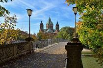 an der Isar - München von Peter Bergmann