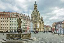 Neumarkt und Frauenkirche in Dresden by Christoph  Ebeling