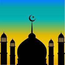 Mosque silhouette  von Shawlin Mohd