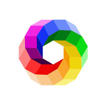 Color wheel with illusion in rainbow colors by Shawlin Mohd