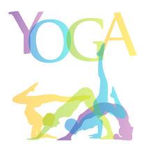 Yoga poses silhouette  von Shawlin I
