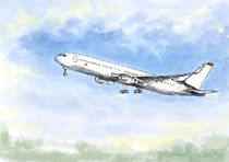 Airplane Flight Holiday Feeling by Andrea Kühn