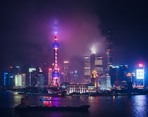Shanghai by night by Miemo Penttinen