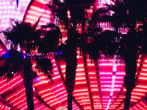 Neon palms by Miemo Penttinen