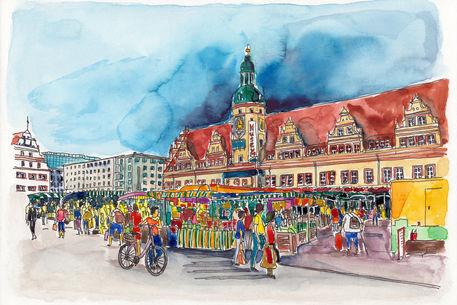 Leipzig-wochenmarkt-vor-dem-alten-rathaus