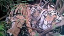Tigermama mit Baby by Erhard Sünder