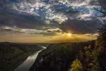 Elbtal in der Abendsonne  von Christoph  Ebeling