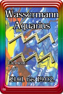 11 Wassermann - Aquarius von Norbert Hergl