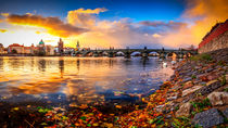 Charles Bridge in Prague at Early Morning, Czech Republic by Zoltan Duray