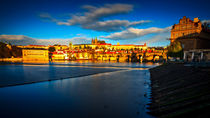 Prague Castle and Charles Bridge by Zoltan Duray