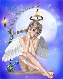 Engel auf Schaukel by Conny Dambach