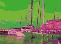 Leinwandbild Hafen St. Tropez by Birgit Wagner
