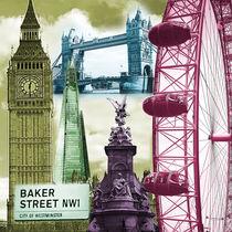 London Collage Sehenswürdigkeiten by Birgit Wagner