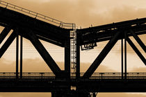 Hans-Knipp Eisenbahnbrücke Duisburg (863852) B+W von Franz Walter Photoart