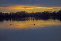 Abend am Baggersee by Hartmut Binder