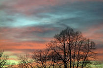 Farbenspiel am Abendhimmel by Hartmut Binder