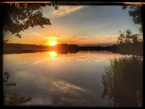 Sunset Abtsdorfer See by Stefan Wehmeyer