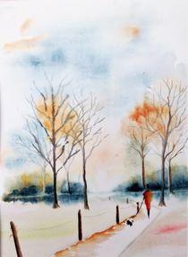 Herbstwald by Theodor Fischer