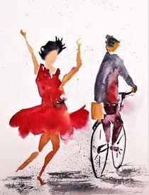 'immer die Radfahrer' von Theodor Fischer