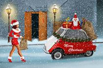 Der Weihnachtsmann hat Hilfe bekommen - Santa has got help by Monika Juengling