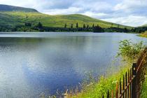Beacons Reservoir in Wales by gscheffbuch