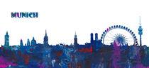 München Skyline Silhouette von M.  Bleichner