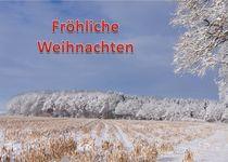 Weihnachtspostkarte Winterwald am Feldrand 2 by kattobello