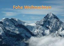 Weihnachtspostkarte Schweizer Alpen von kattobello
